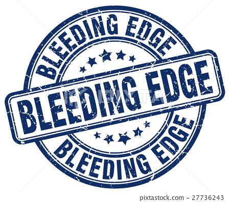 bleeding edge blue grunge stamp 27736243