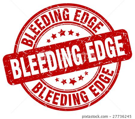 bleeding edge red grunge stamp 27736245