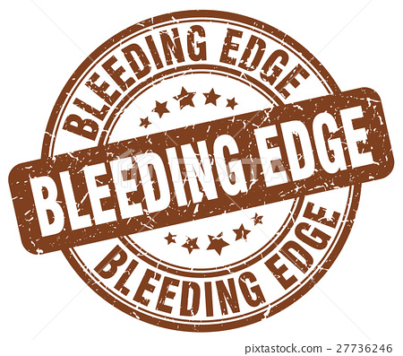 bleeding edge brown grunge stamp 27736246