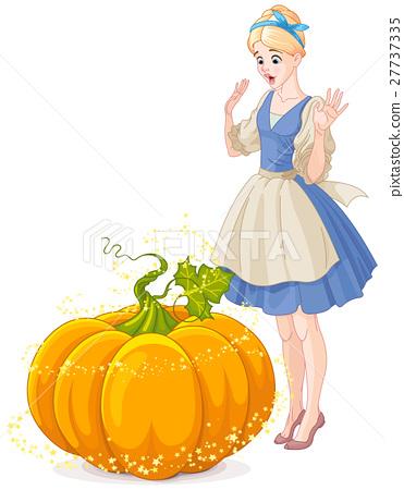 Cinderella Surprised by a Magical Pumpkin 27737335
