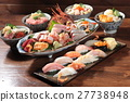 sushi and sashimi set meal 27738948