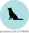dog silhouette 27746956