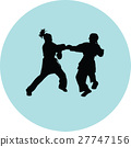 fight, karate, silhouette 27747156