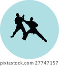 fight, karate, silhouette 27747157