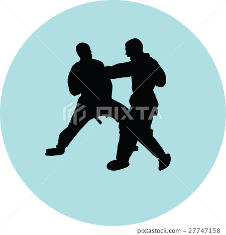 Karate silhouette vector 27747158