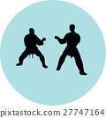 fight, karate, silhouette 27747164
