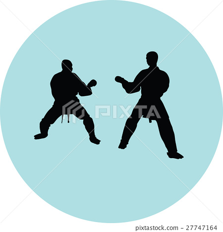 Karate silhouette vector 27747164