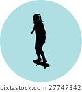 girl rides a skateboard 27747342