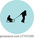 sled, children, kid 27747399
