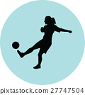 woman soccer player 27747504