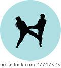taekwondo woman silhouette vector 27747525