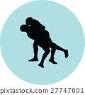 wrestling silhouette vector 27747601