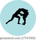 wrestling silhouette vector 27747602