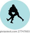wrestling silhouette vector 27747603