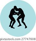 wrestling silhouette vector 27747608