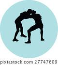 wrestling silhouette vector 27747609
