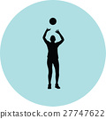 volleyball woman player 27747622