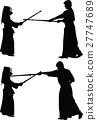 kendo japanese sport silhouette vector 27747689