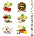 casino, symbol, icon 27747694