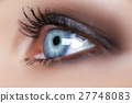 blue woman eye with beautiful brown shades 27748083