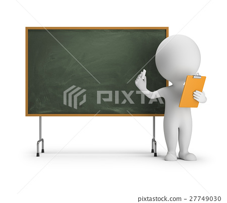 3d small people - blackboard 27749030