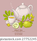 soursop tea vector illustration 27752245