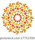 vector colored round autumn leafy mandala  27752390