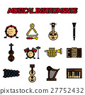 Musical instruments flat icon set 27752432