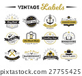 Shops And Cafe Vintage Labels  27755425