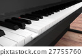 Piano closeup with one key pressed 27755760