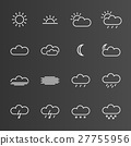 Set of simple weather icons 27755956