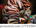 raw exotic fish assortment with moray 27755984