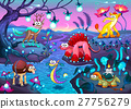 Group of funny animals in a fantasy landscape 27756279