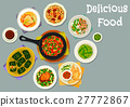 French cuisine meat dishes icon for menu design 27772867