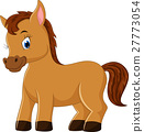Cute horse cartoon 27773054