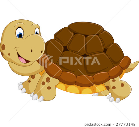 Cute turtle cartoon running 27773148