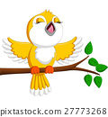 Cute bird singing 27773268