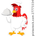 Rooster chef cartoon 27773334