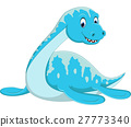 Swimming Plesiosaurus cartoon 27773340