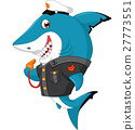 Shark cartoon illustration 27773551