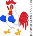 Cute rooster cartoon boxing 27773788
