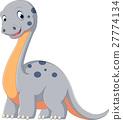 Cute dinosaur diplodocus cartoon 27774134