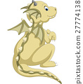 Cute baby dragon cartoon 27774138
