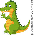 Happy fun cute crocodile cartoon 27774139