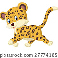 Cute leopard cartoon 27774185