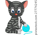 Cute cat cartoon 27774245