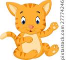 Cute baby cat cartoon 27774246