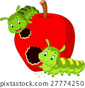 caterpillars eat the apple 27774250