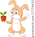 Cute cartoon rabbit 27774432