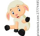 Cute sheep cartoon 27774485